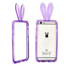 2014 newest hotsale mobile case rabbit ear tpu case cover for iphone 6