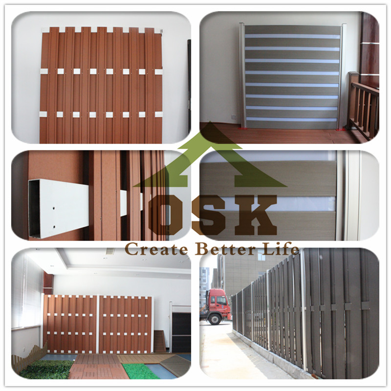 2015 eco-friendly waterproof wpc fence panel made in china