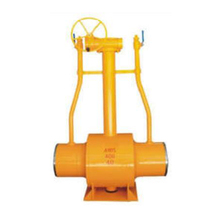 Underground worm gear long stem ball valve
