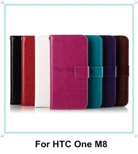 Mobile Phone Flip Leather Wallet Case Cover for HTC One M8 / M7 / M8 mini / M4 / Desire 310