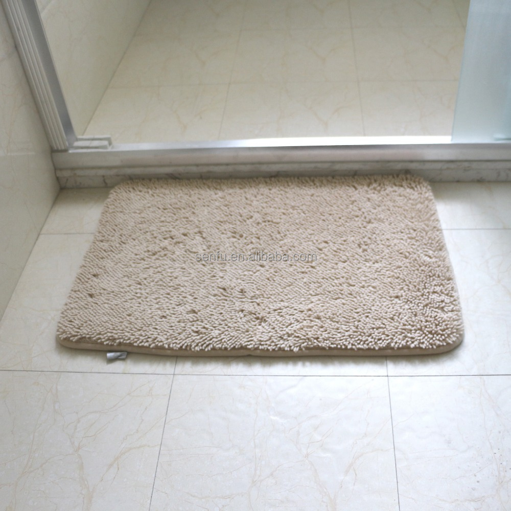 Compositive microfiber chenille non-slip rug bathmats with memory foam ,absorb water.
