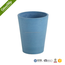 lightweight round flower pot recycled cheap plastic garden planter