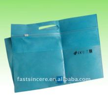 slider zipper top non-woven shopping bag