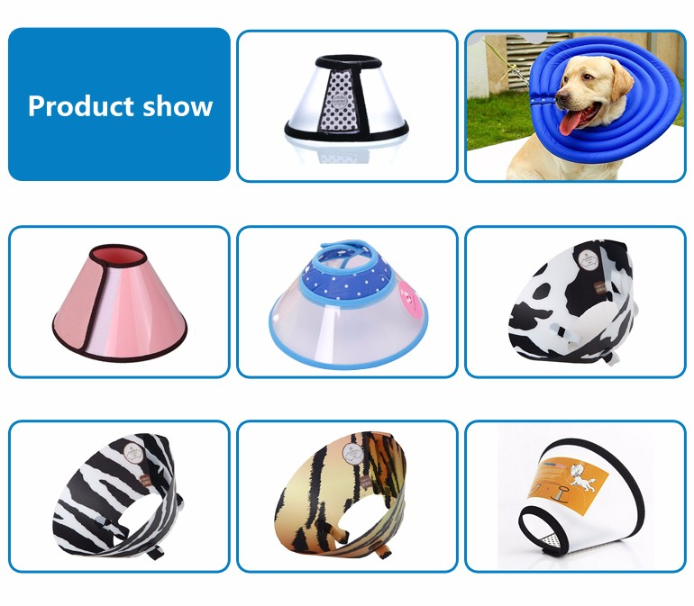 Trade assurance aging resistance cone shape pet dog e-collar