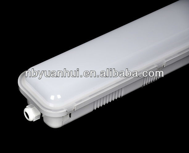 LED tri-proof light IP65, pc body pc cover, with emergency kit lasting 3 hours
