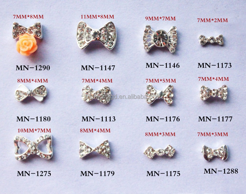 Hot sale nail charm bow 3d nail arts design/3d nail art decoration product for wholesale