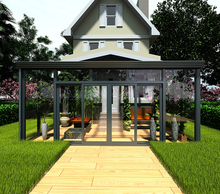 Customized aluminum commercial sunroom glass house prefabricated glass house