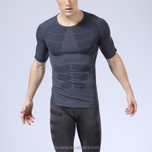 Hot sale Men Compression short Sleeve <strong>Sports</strong> Tight Shirts Fitness GYM Base Layer Tops Tee