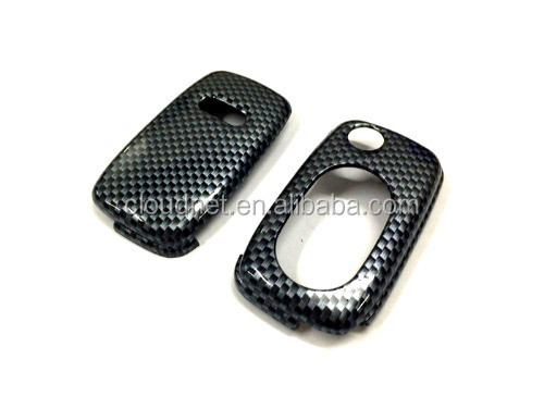 Gloss Carbon Grey Hard Plastic Keyless Remote Key Fob Flip Key Protection Case Cover For Audi A3 8L A4 B5 B6 TT MK1 A6 C5