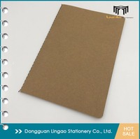 Sewn binding Eco friendly kraft paper notebook recycle paper plain paper journals
