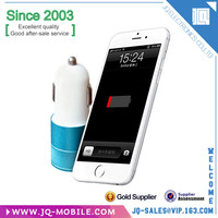 High quality Fashion 5V 1A dual usb port car charger for Samsung s7 edge