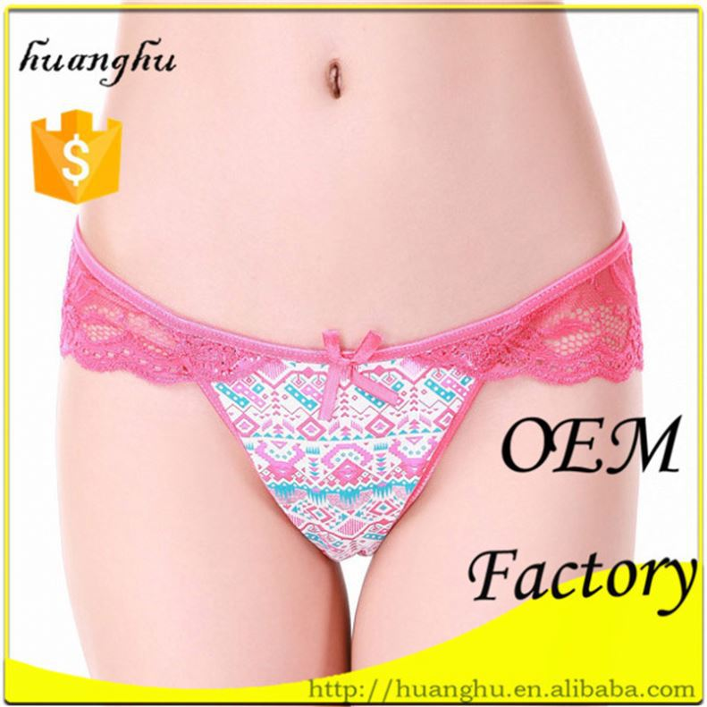 Elastic Lightness Low rise red lace thongs slip