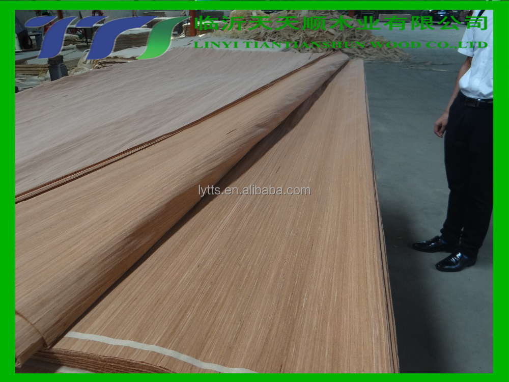 .5mm thickness Red oak veneer / red oak veneer laminated mdf