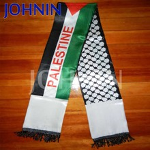 2018 Sublimation Printing Manufacturing Satin Palestine Flag Scarf