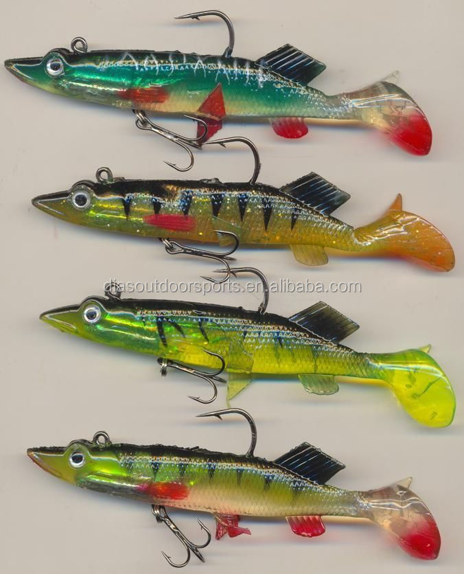 Pike Bass Fish Soft Swim bait lures