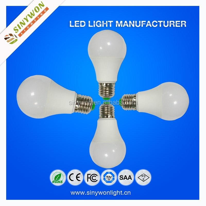 Sinywon 2015 Energy Saving Led light Bulb Made in China Auto A60 E27 dimmable led bulb