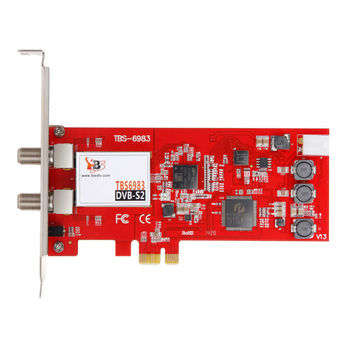TBS6983 Professional DVB-S2 Dual Tuner PCIe Card supports CCM, ACM, VCM, Multi Input Stream, 16APSK,32APSK