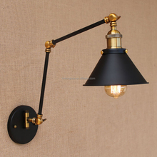 Loft black vintage industrial adjustable long arm wall lamp E27 LED wall lights for home
