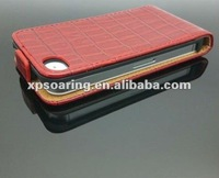 red crocodile skin case pouch bag for iphone 4g 4S