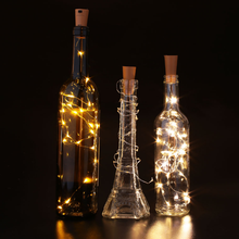DIY Decoration 2m 20LED Cork Beer Bottle Vase Glass Wine Stopper Jars LED String Lights for Christmas Party