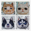 Aimigou Hight Quality Wallets Hot Sale 3D Dog and Cat Face Bag Coin Purses