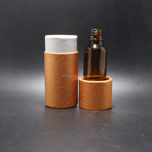 Decorative paper can paper tube box packing can luxury paper perfume box essential oil package PT-21B