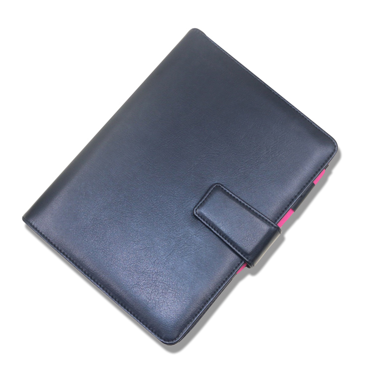 Superb leather notebook cover with calendar school folder for notebooks design your own notebook