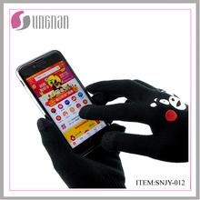 customized acrylic touch sensor screen winter gloves with printing logo