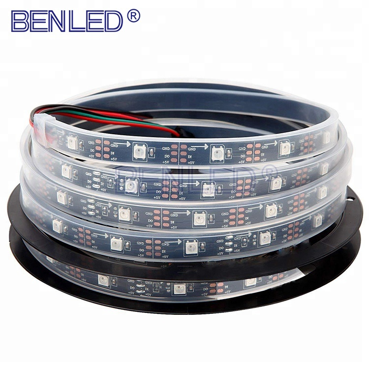 Smart <strong>Led</strong> WS2812 WS 2812B 5050 Pixel 5V Addressable 2812 Running 30 <strong>LEDs</strong>/m RGB Flexible <strong>LED</strong> WS2812B IC Strip Light
