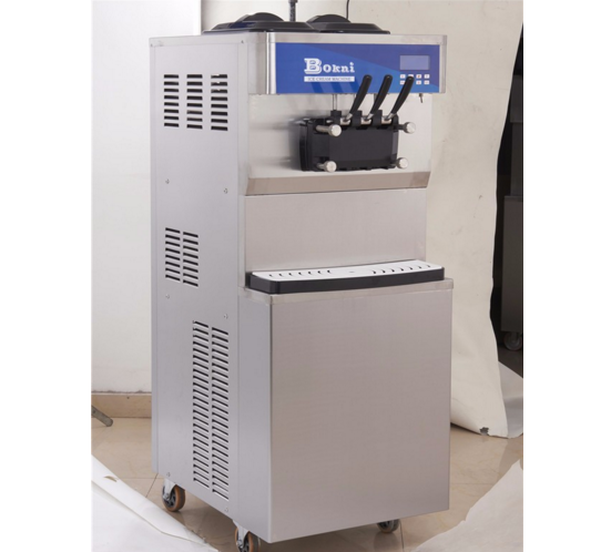 automatic wholesale soft ice cream machine in the store with small capacity