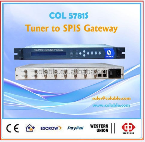 satellite streamer ,satellite dvb-t receiver to ip gateway,iptv solution headend equipment COL5781S