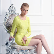 Beautiful lady elegant long sleeve short formal cocktail dress turquoise dresses