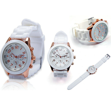 Fashion silicone ladies women quartz watch