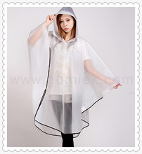 Fashion design reusable rain poncho with LOGO printed