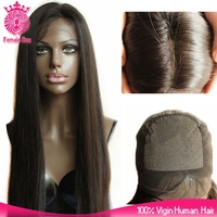 Female Star Hair glossy 100% malaysian virgin hair straight full lace wig wholesale silk top l;ace wig