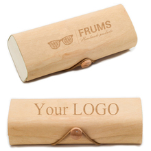 ZL110 Custom Your Logo wooden sunglasses case