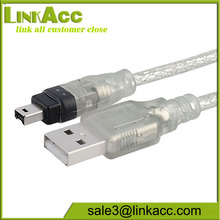 New 6ft 1.8m USB To Firewire IEEE 1394 4 Pin iLink Adapter Data Cable
