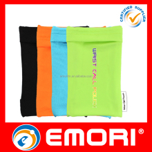 Popular high quality custom printing multi-functional lycra wristband with pocket for mobile