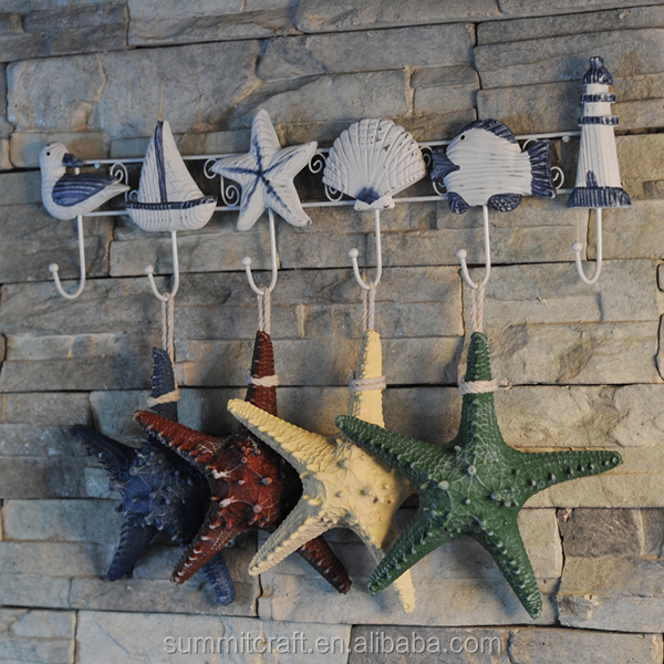 Starfish figurines decoration wall hanging resin artificial starfish