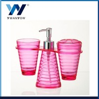 Plastic bathroom rack set bathroom liquid soap dispenser plastic pump