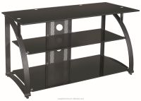 Black Tv Stand Media Entertainment Center 30 42 50 60 Inch Flat Screen Television