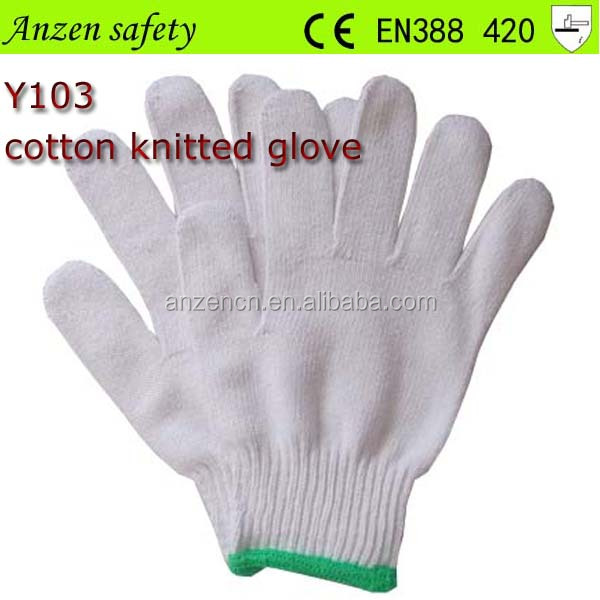 2016 best sale thin white cotton glove for hand protection