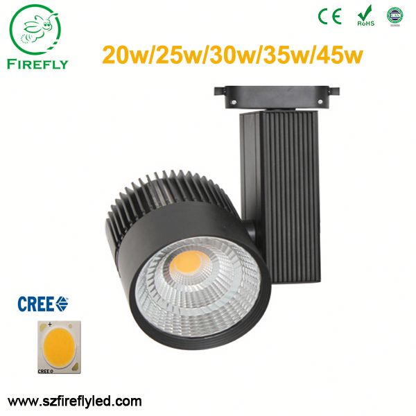 wholesale price 4 circuit Epistar COB beam angle led track light for shop mall COB fixture for brand shoe show