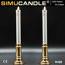 Simulated LED Taper Candle with Moving Flame and USA, EU patent