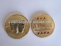 24K gold coins poker coin