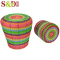 Indian style high quality home bedroom furniture chair round plastic rattan ottoman stool