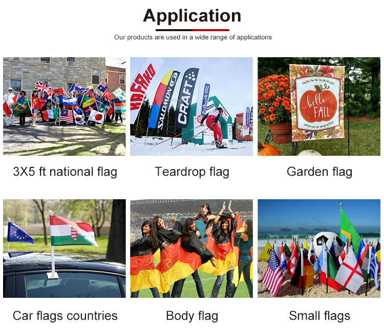 Printing Promotion Hanging Polyester Wall Flag Spanish National Flags