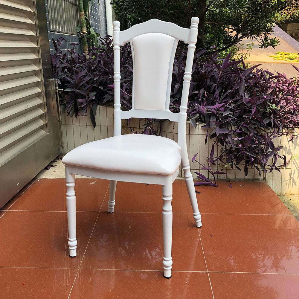 Unique new design steel royal white wedding event chairs