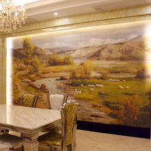 Customize patterns water-resistent decorative metal wall panels stainless steel with artwork painting
