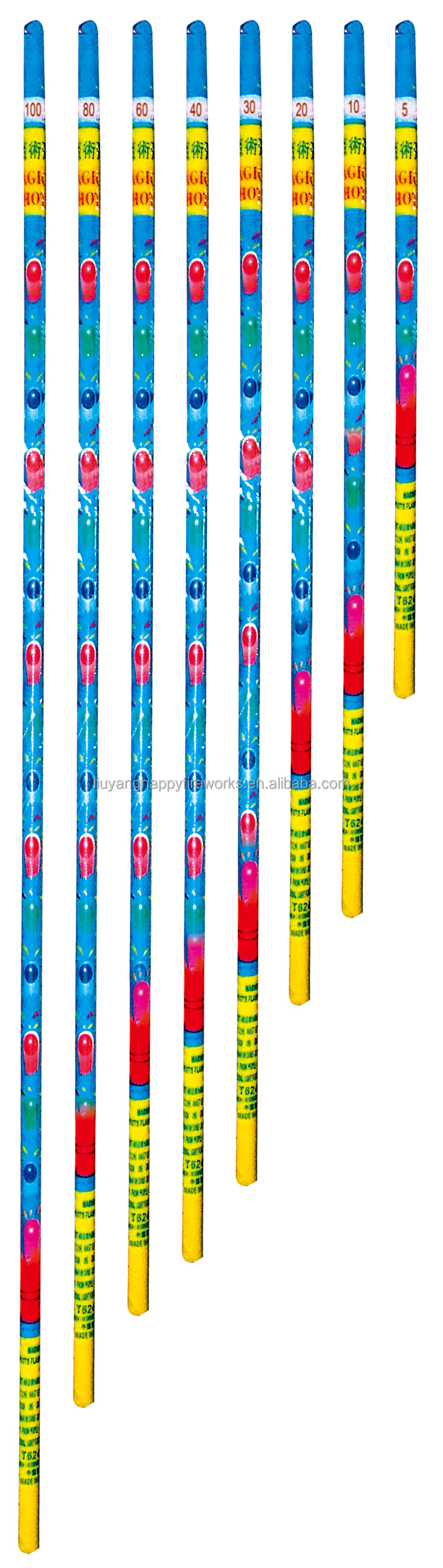 T6242 roman candle magic shots barrage fireworks